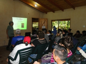 The presentation by Rolando at the Giddy Environmental Learning Centre