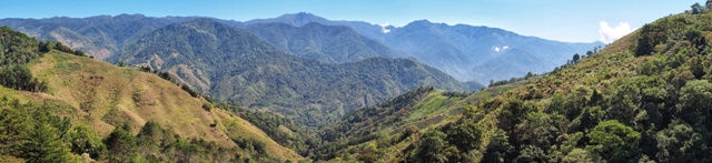 Panarama of the Talamaca Mountain range