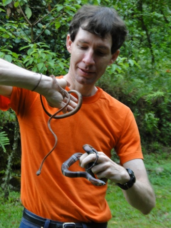 John, ready to release  snakes back to where he found them.