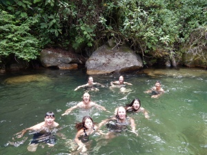 A swim in the Rio Chirripo
