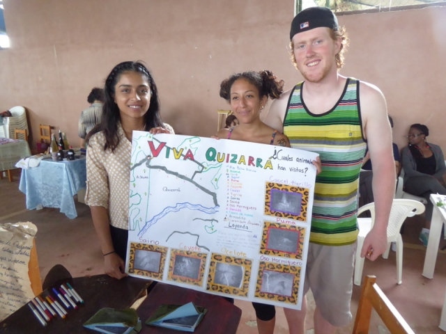 The York students did home stays.  They worked with their host families to create sustainability posters.