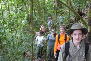 Field studies include long hikes in the mountains. Sometimes we were rewarded with sitings of monkeys, beautiful vistas, and the calls of the quetzal