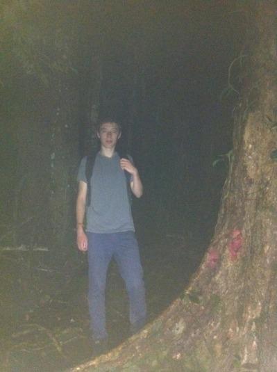 Leo on Owl survey at night