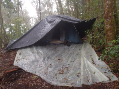 Home sweet home - a tent on a rock