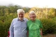 Jenny with her partner, Charles at Cloudbridge
