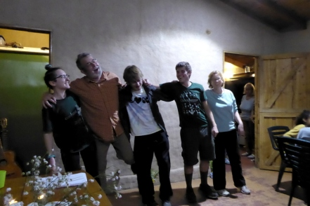 """Dr. Martin Stone and The Forgetful Four singing """"My Old Kentucky Home'"""